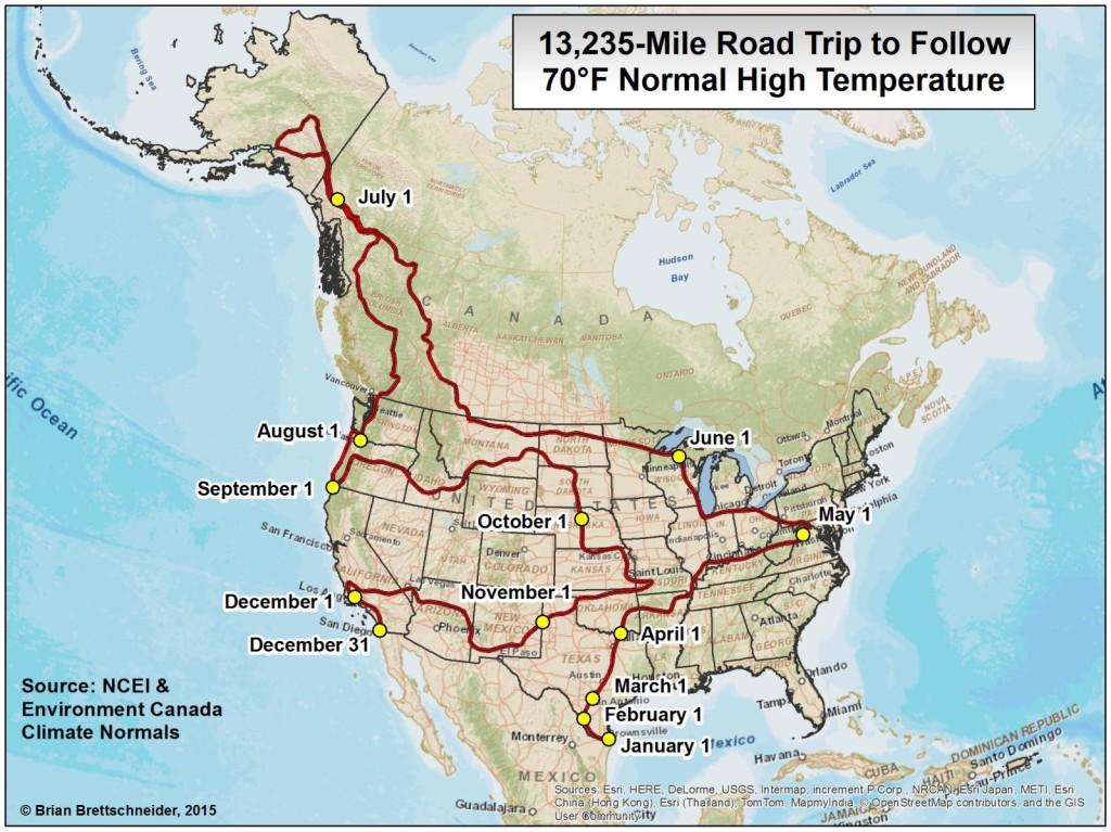 Die ideale Route für einen USA-Roadtrip mit angenehmem Klima